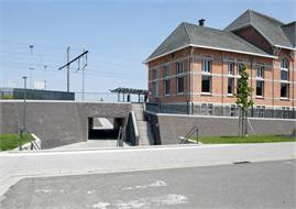 Willebroek - Aanleg fietstunnel station