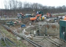 Mechelen - Collector, pompstation en persleiding E19